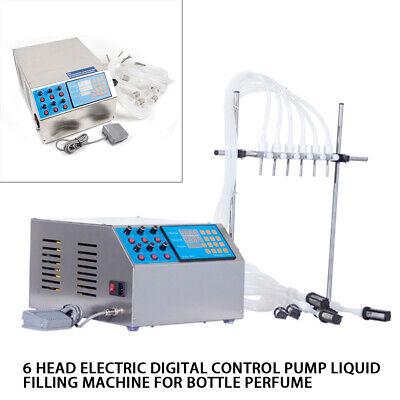 6 Heads Liquid Filling Machine 5000ml Bottle Filler Digital Pump Adjustable