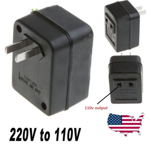 Step Down 220-240V to 110-120V Travel Converter Voltage Transformer Adapter