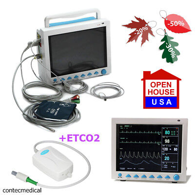 50 Off- Cms8000 Icuccu Monitor Vital Signs Patient Monitor Co2 Capnograph- Usa