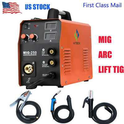 Hitbox Mig250 Mma Lift Tig Mig Welding Machine Gas Gasless Stick Welders 3 In 1