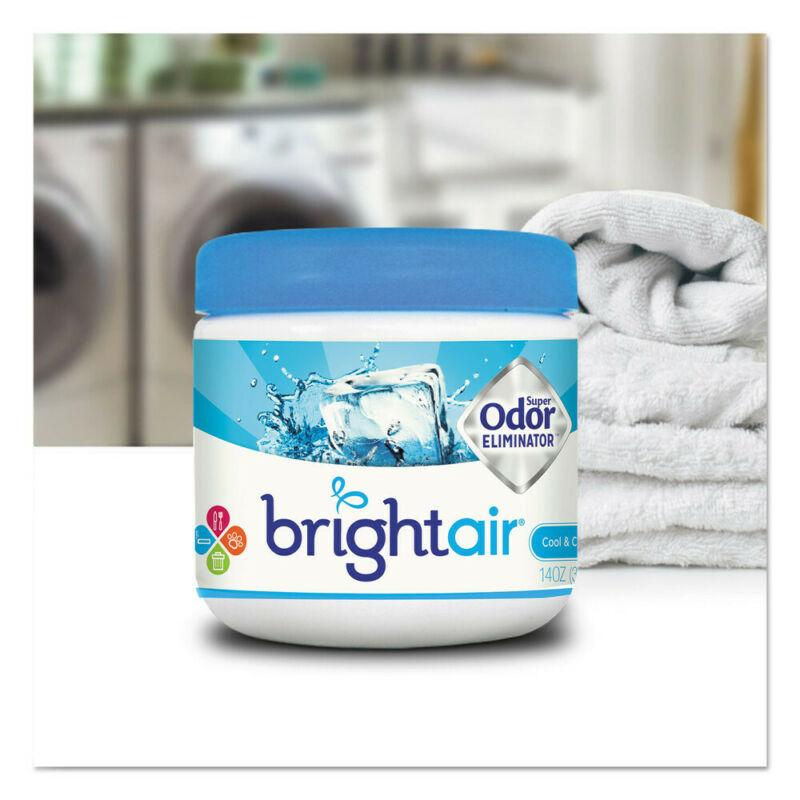 BRIGHT Air Super Odor Eliminator, Cool And Clean, Blue, 14oz, 6/ctn 900090CT NEW