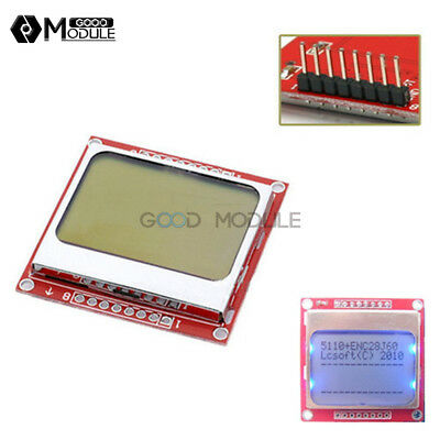 84x48 Nokia Lcd Module Blue Backlight Adapter Pcb Nokia 5110 Lcd For Arduino Gm
