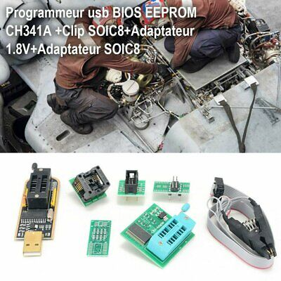 Ch341a Bios Eeprom Usb Programmer Soic8 Clip 1.8v Adapter Soic8 Adapter A