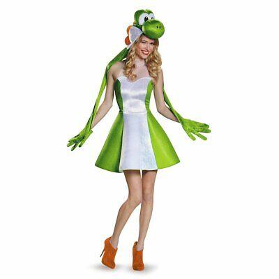 Yoshi Female Version Costume, Green, Junior - Yoshi Womens Costume