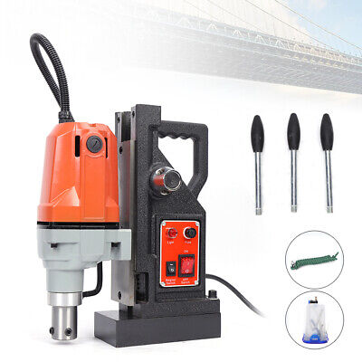 1100w Md40 Magnetic Drill Press 40mm Boring 12000n Mag Force Tapping Industrial