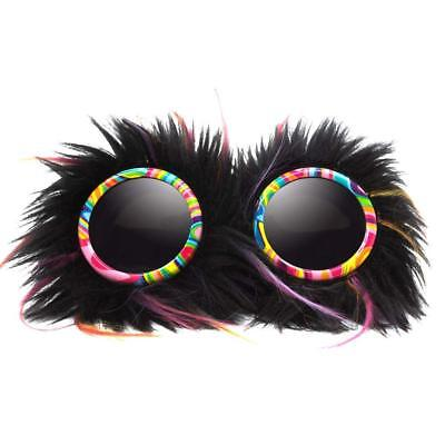 GloFX Party Animal Furry Goggles - Tinted - Rave Gothic Halloween Steampunk
