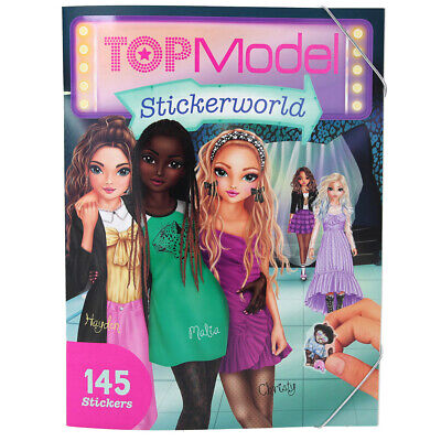 TOPModel Stickerworld Book with 16 Background Pages & 145 Stickers from Depesche