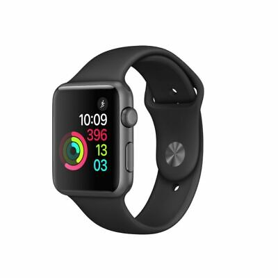 Apple Watch sports 38mm & 42mm Space Grey Aluminium Black Sport Band