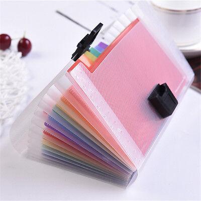 1 Rainbow Color A6 File Folder Document Receipt Expanding Wallet Bill Folders