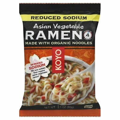 KOYO Reduced Sodium Asian Vegetable Ramen Made with Organic Noodles, 2.1 12 PACK