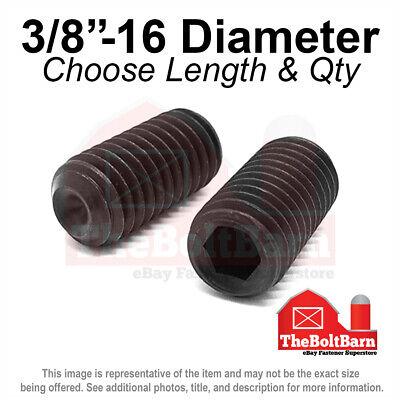 38-16 Alloy Cup Point Allen Socket Set Screw Coarse Black Oxide Pick Size