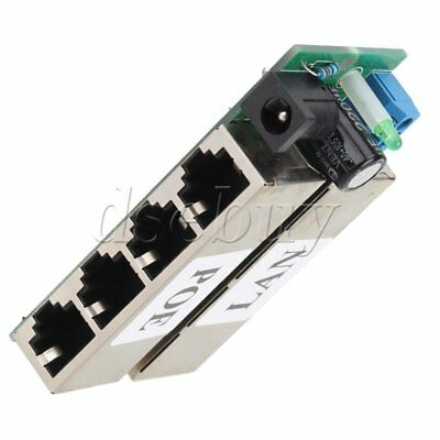 POE Module Injector Over Ethernet Router 4 LAN + Power port for IP Camera 48V