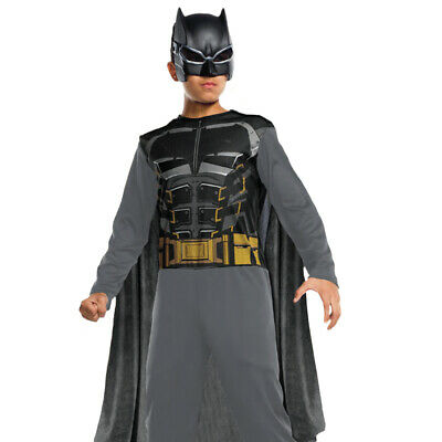 CHILDS BATMAN COSTUME BOYS SUPERHERO FANCY DRESS OUTFIT DARK KNIGHT COMIC BOOK