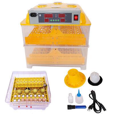 96 Egg Peep Hole Incubator Hatcher Automatic Egg Turning Temperature Control