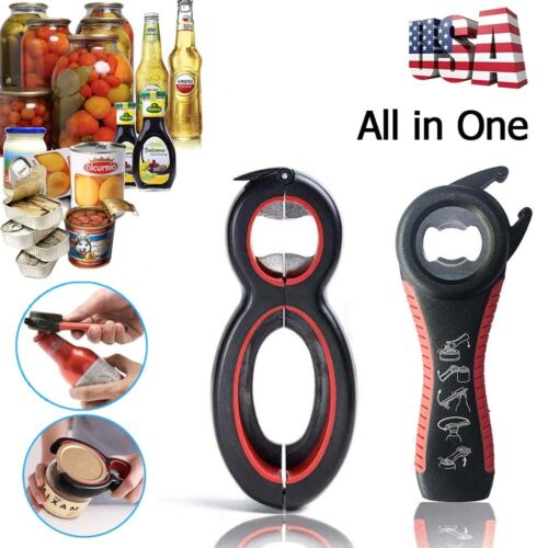 2 Pack All In One Bottle Can Jar Grip Opener Kitchen Safety