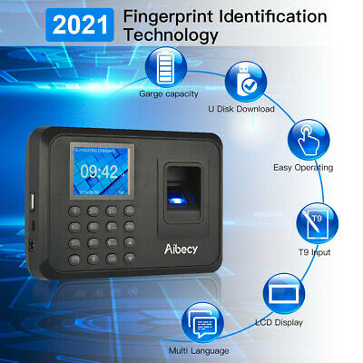 Biometric Fingerprint Checking-in Attendance Machine Employee Time Clock USA