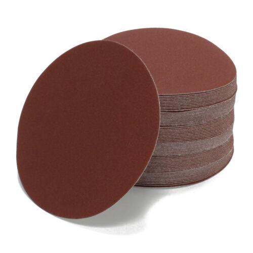 Schleifscheiben Set 50 Stück Ø 150mm Rot ungelocht P60 P100 P150 P320 P600
