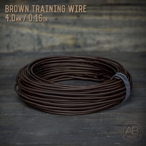American Bonsai Brown Aluminum Training Wire - 4.0mm - 1 kilogram - 100ft - 1k