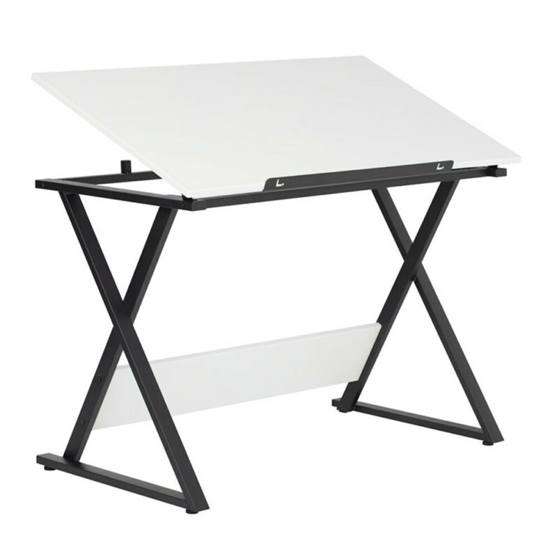 Studio Design Axiom Student Drafting Drawing Art Table with Tilting Top, White