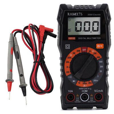 Kaiweets Km 100 Digital Multimeter Voltage Tester Ac Dc Current Electric Meter
