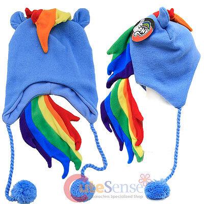 My Little Pony Rainbow Dash Lappländer Mütze mit Quasten Kostüm (Rainbow Dash Erwachsene Kostüme)