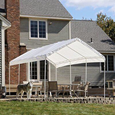 ShelterLogic 20 x 10 ft. All-Purpose Canopy - 8 Leg, White, 10 x 20