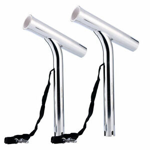 Set Of 2! Sliler Highly Polished Stainless Steel Outrigger Stylish Rod Holder-BM