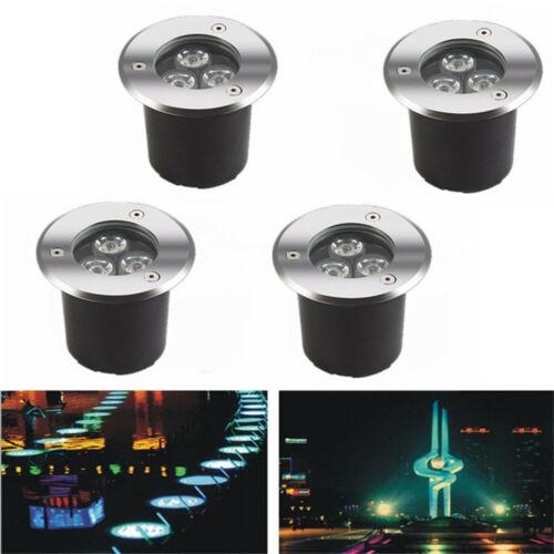4X LED Bodenstrahler Edelstahl Wegbeleuchtung Außenleuchte Einbau Gartenstrahler