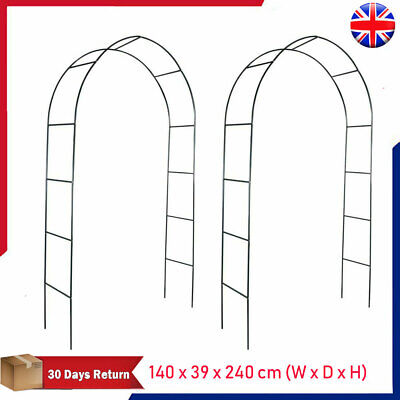 2x Garden Arch Arbour Pergola Trellis Archway Flowers Climbing Plants Support