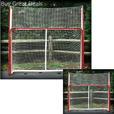 Hockey Practice Backstop Kit Targets Red/White Outdoor Netting Steel Frame - NEW