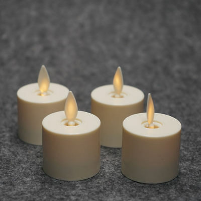 Luminara Moving Wick Flameless Tea Lights Battery Operated LED Candles Set of 4