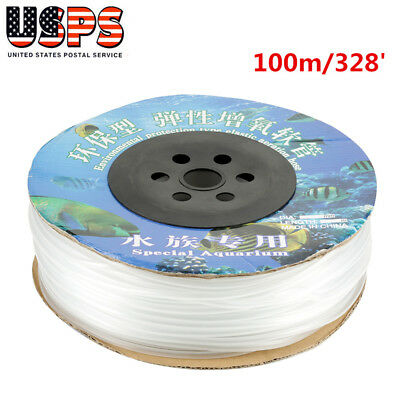 100m/ 328' Aquarium Silicone Air Line Tubing for Fish Tank Air Pump Durable