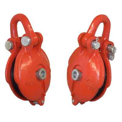 1.5 Ton Bail Snatch Block Hoist Rig-ging Shackle Wire Rope 3 Pulley