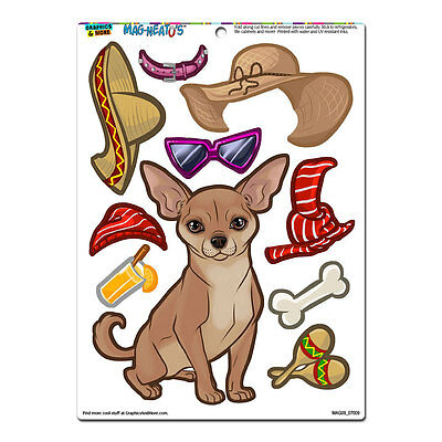 Chihuahua Dress-Up - Dog Pet Funny - MAG-NEATO'S™ Refrigerator Vinyl Magnet Set](Dogs Dressed Up Funny)