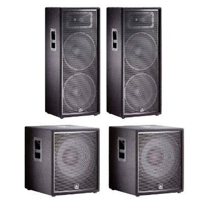 JBL JRX DJ PA Audio Speaker Subwoofer System Package Bundle
