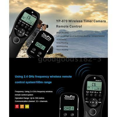 YouPro Wireless LCD Timer Shutter Remote Control for Nikon DSLR Camera D750 D610