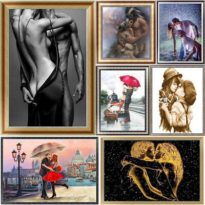 5D Diamond Lover Kiss Painting Embroidery DIY Cross Stitch Craft Home Decor Gift