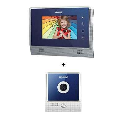 "Commax CAV-70UG  7"" Color Video InterPhone + Door Camera DRC-4U Blue Intercom"