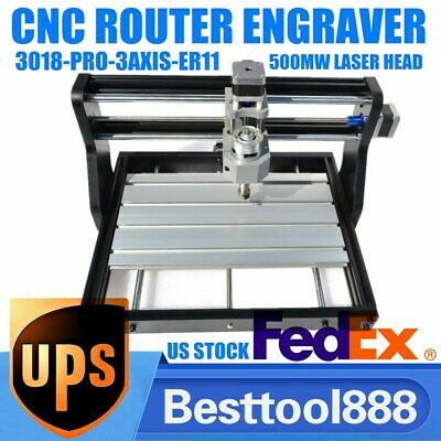 Cnc 3018 3axis Grbl Engraving Laser Printer Machine Metal Usb Engrave Machine Us