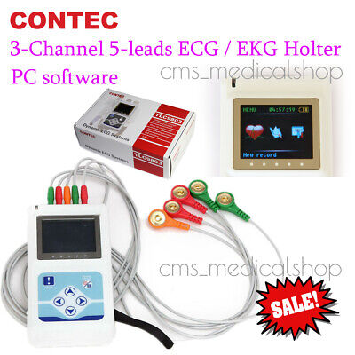 3 Channel Ecg Ecgekg Holter Monitor System24 Hours Contec Tlc9803