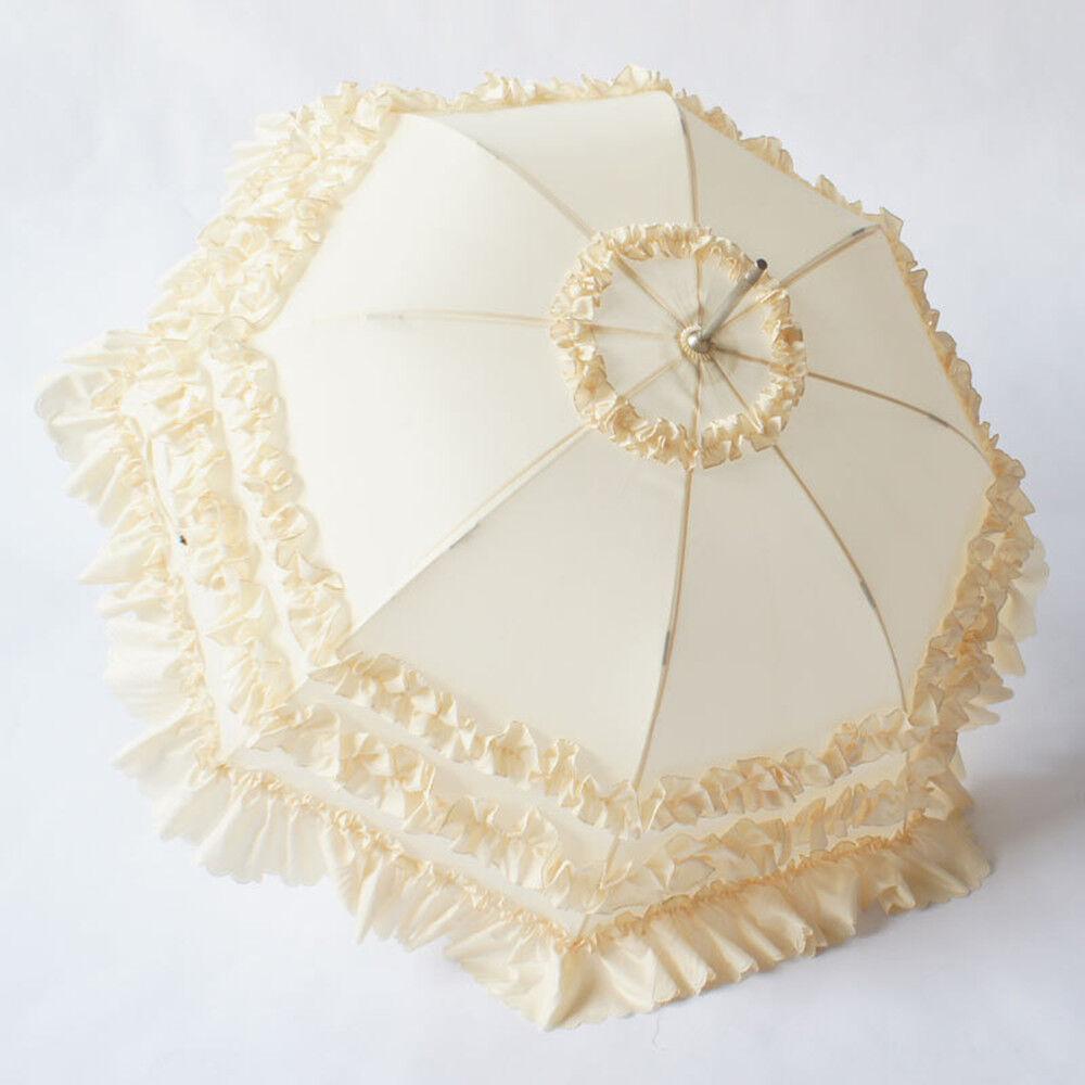 Damen-Schirm Spitze Weiß Sonnenschirm Braut-Schirm Melissa Hochzeit Regenschirm