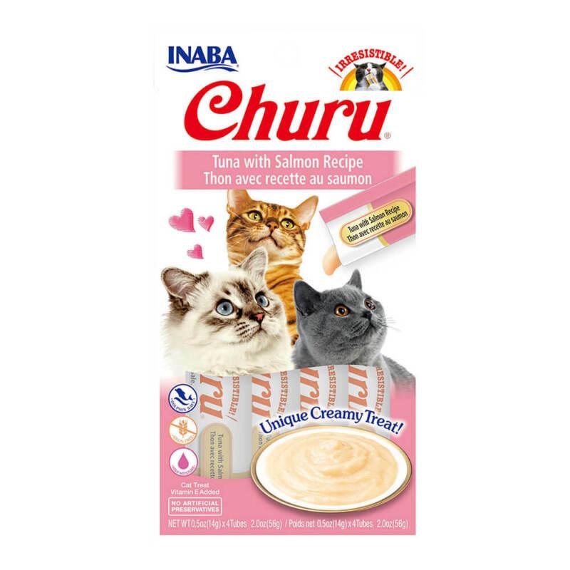Inaba Churu, Creamy Tuna w/ Salmon Cat Treat, w/ Vitamin E