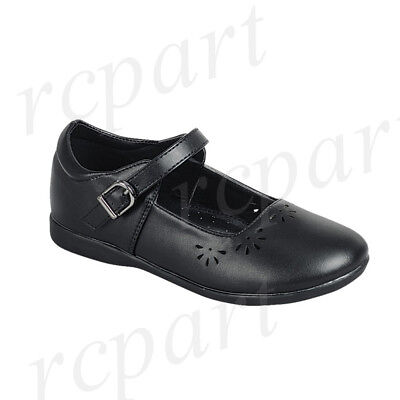 New girl's kids black school dress Mary Janes wedding shoes formal holiday