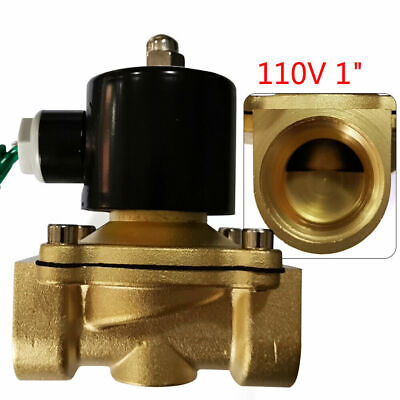 Brass Electric Solenoid Valve Normally Closed 2-way For Air Water Fuel Glycol