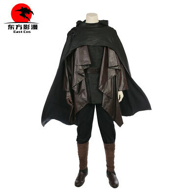 Star Wars The Last Jedi Cosplay Luke Skywalker Cloak Halloween Cape