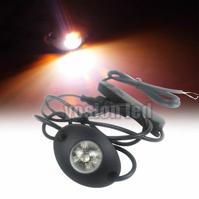 2.28 6w Led Amber White Hide Away Emergency Patrol Truck Warning Strobe Lights