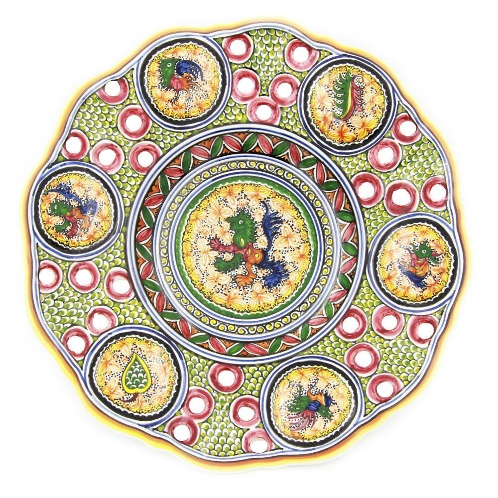 Coimbra Ceramics Hand-painted Hanging Decorative Plate XV Cent Recreation #192