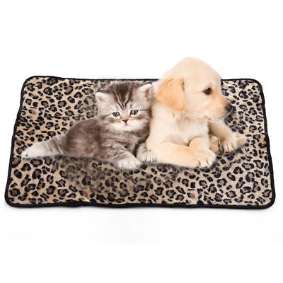 100*75cm Pet Blanket  Leopard Design Dog Cat Mat Puppy Bed Sofa Soft Warm Fleece