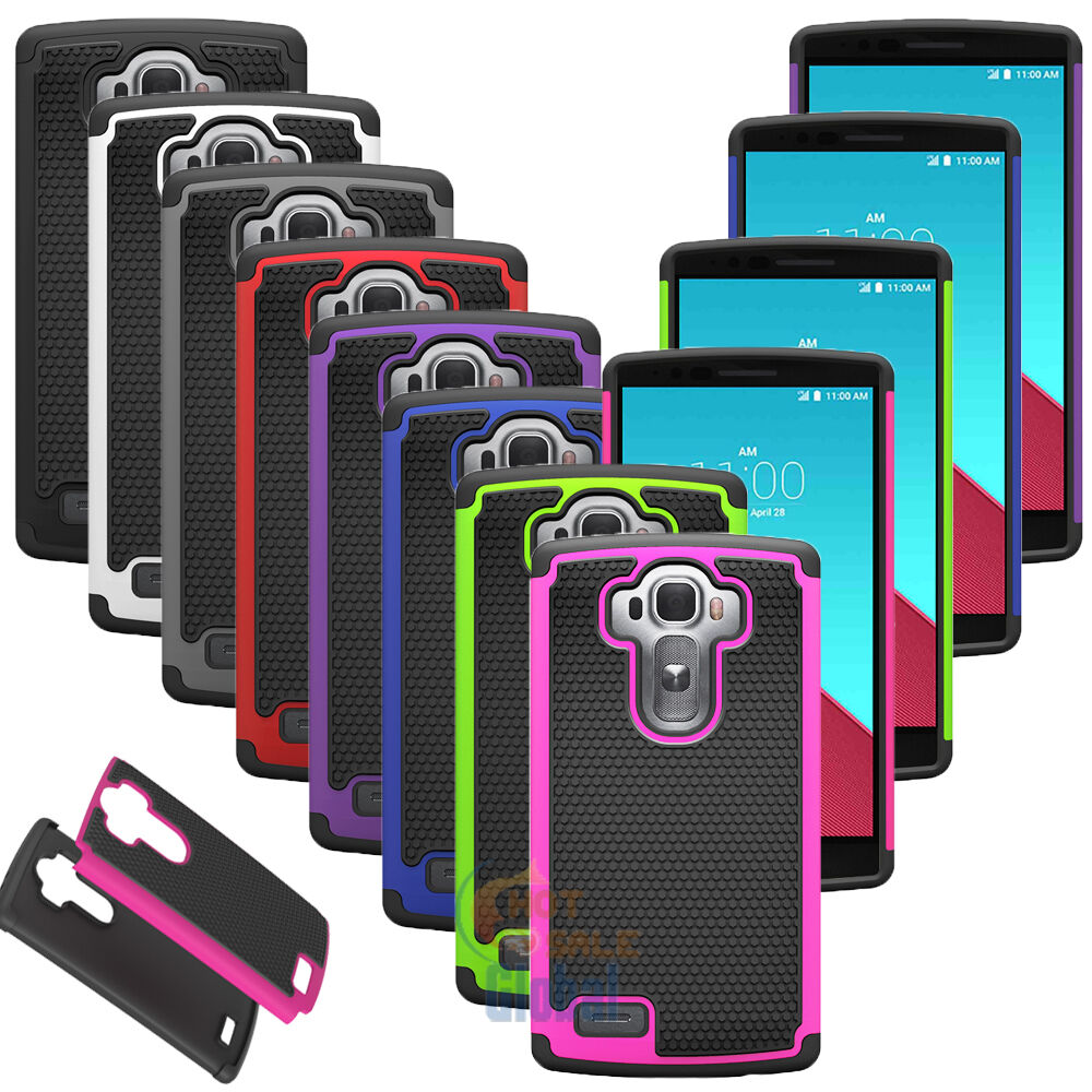 For LG G4 Hybrid Impact Rugged Rubber Shockproof Hard Protective Case Cover Skin