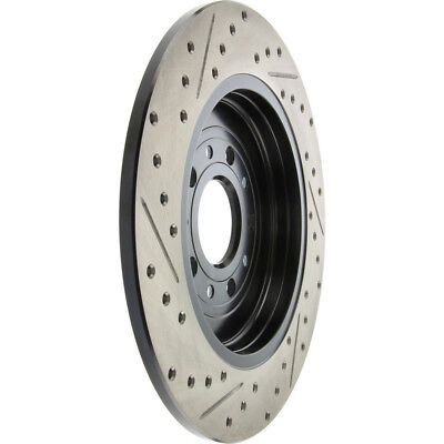 Disc Brake Rotor-Sport Drilled/Slotted Disc Rear Left STOPTECH 127.61081L